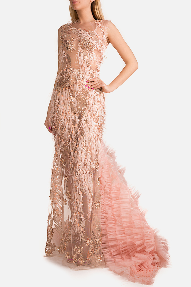 Embellished tulle gown InfinityF image 1