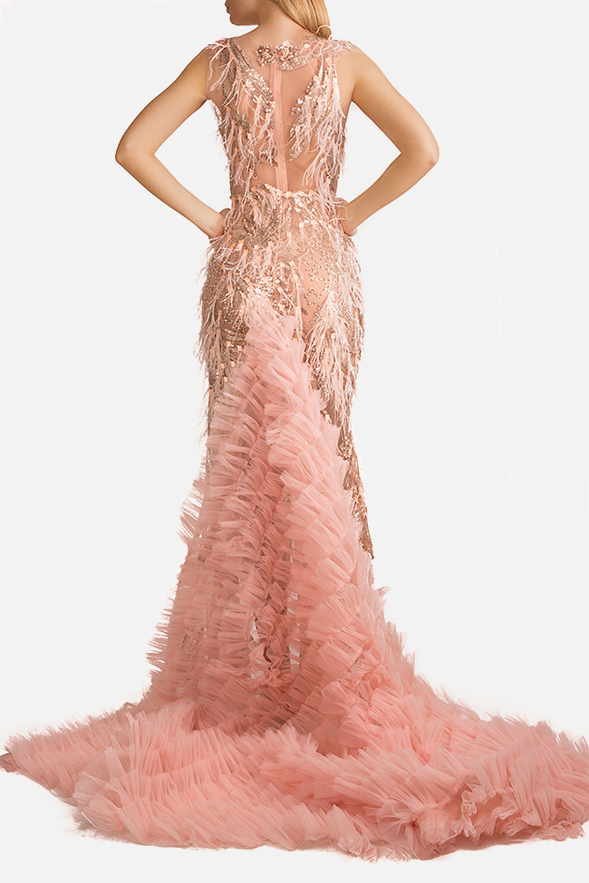Embellished tulle gown InfinityF image 2