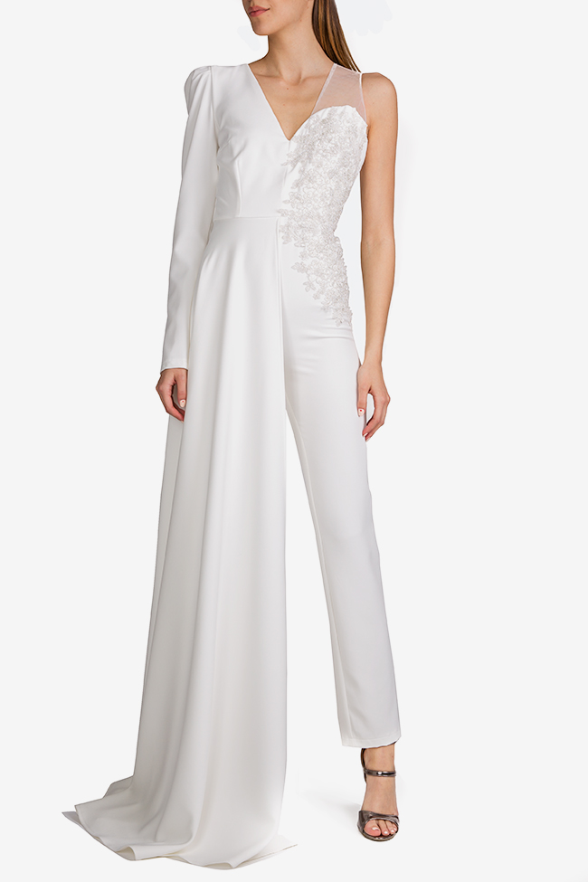 Mariola embroidered draped crepe jumpsuit Esa  image 0