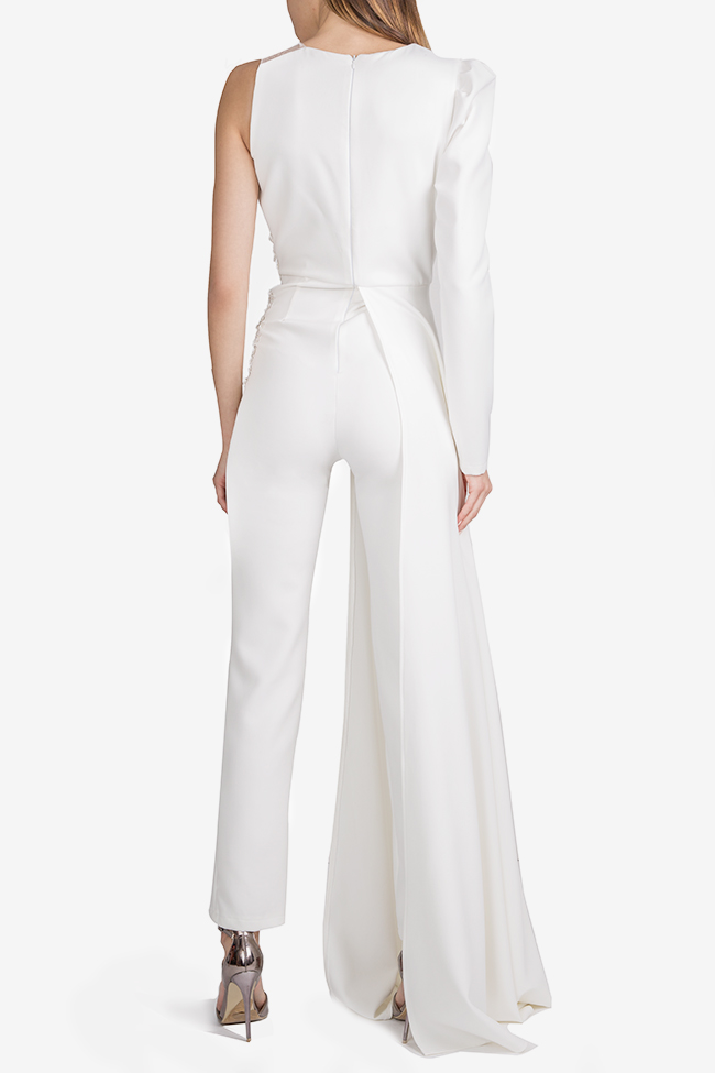 Mariola embroidered draped crepe jumpsuit Esa  image 1