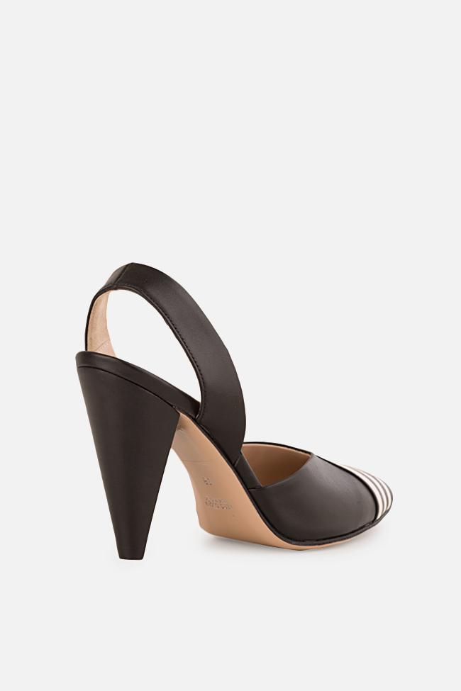 Pantofi din piele cu toc Marlene Ginissima imagine 1