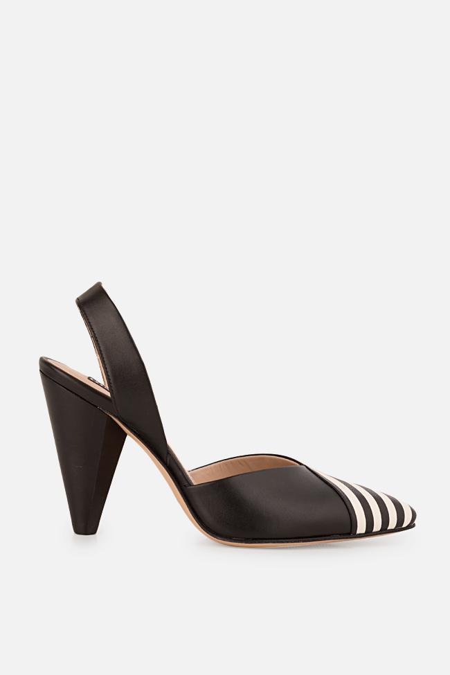 Pantofi din piele cu toc Marlene Ginissima imagine 0