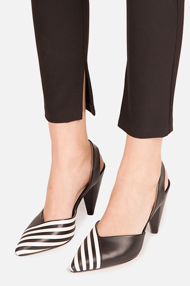 Pantofi din piele cu toc Marlene Ginissima imagine 3