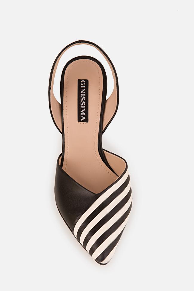 Pantofi din piele cu toc Marlene Ginissima imagine 2