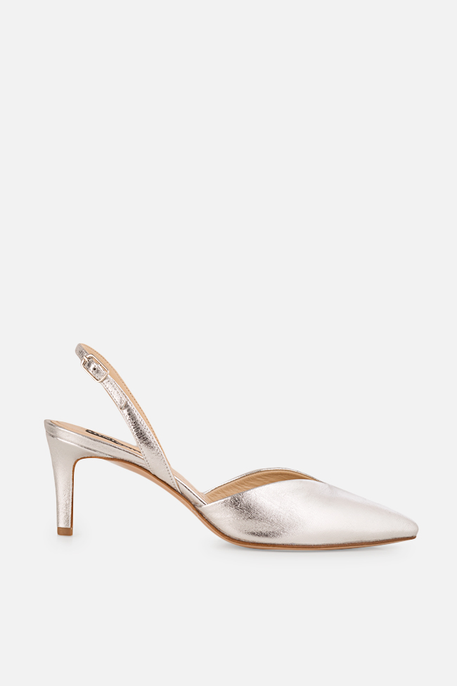 Alice60 metallic leather slingback pumps Ginissima image 0