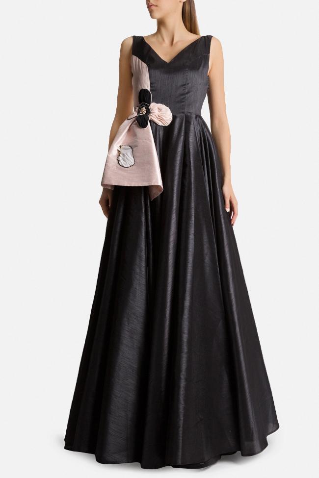 Embellished silk-taffeta peplum gown Alda Ciceu image 0
