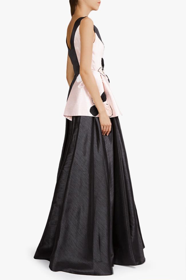 Embellished silk-taffeta peplum gown Alda Ciceu image 2
