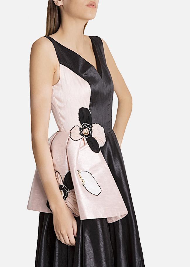 Embellished silk-taffeta peplum gown Alda Ciceu image 3