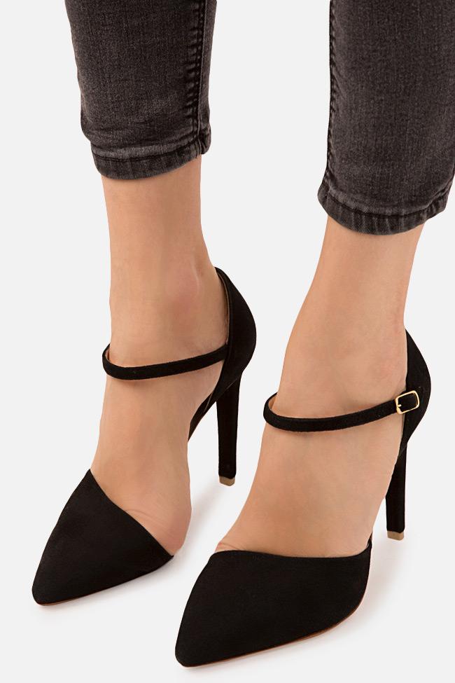 Pantofi din piele intoarsa Simply Classic Hannami imagine 3