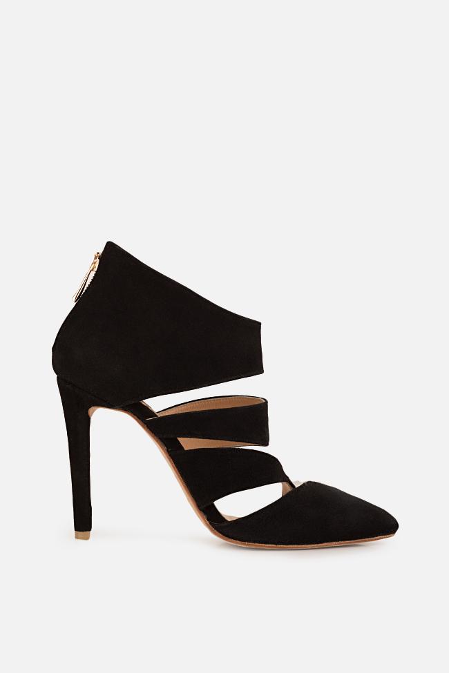 Chaussures en daim avec découpes Hannami image 0