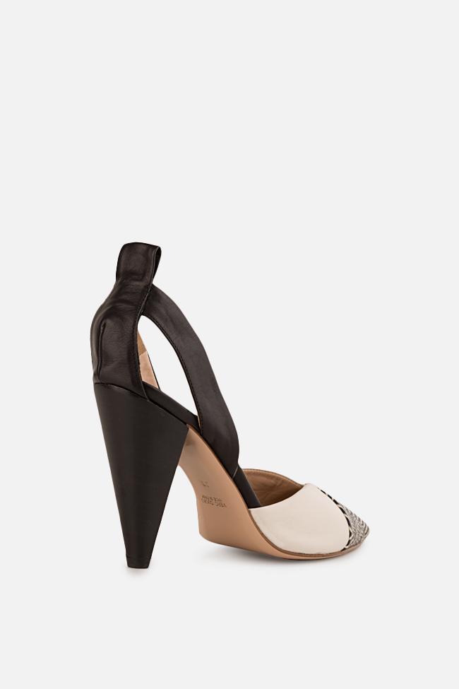 Pantofi din piele cu dungi Marlene90 Ginissima imagine 1