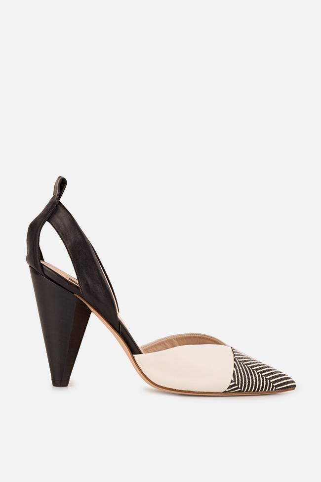 Pantofi din piele cu dungi Marlene90 Ginissima imagine 0