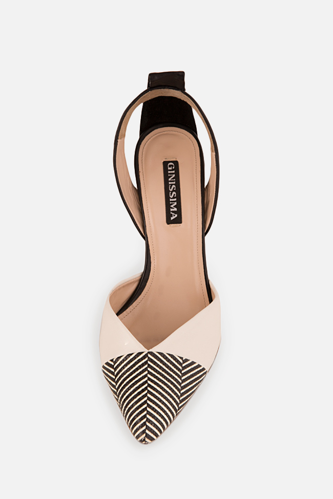 Pantofi din piele cu dungi Marlene90 Ginissima imagine 2