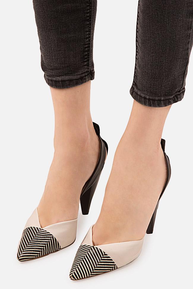 Pantofi din piele cu dungi Marlene90 Ginissima imagine 3