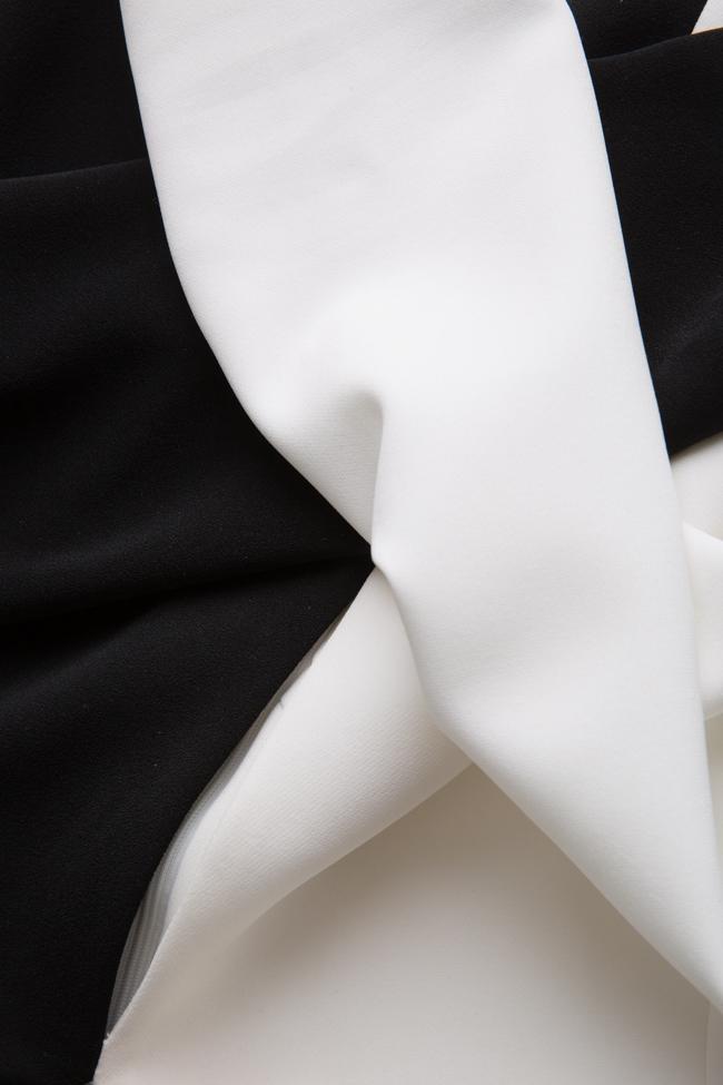 Rochie bicolora din crep Esa  imagine 4