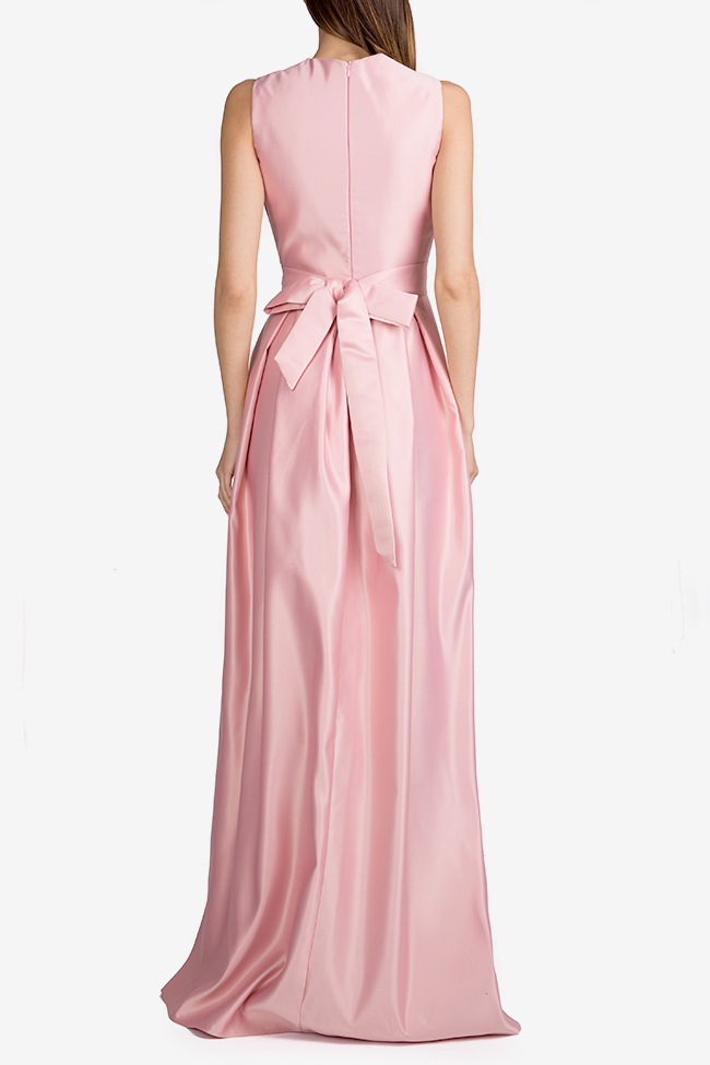 Belted satin taffeta maxi dress Esa  image 2