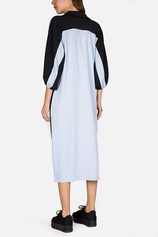 Color-block striped midi dress Bluzat image 2