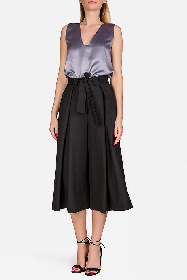 Belted cotton culottes Bluzat image 1