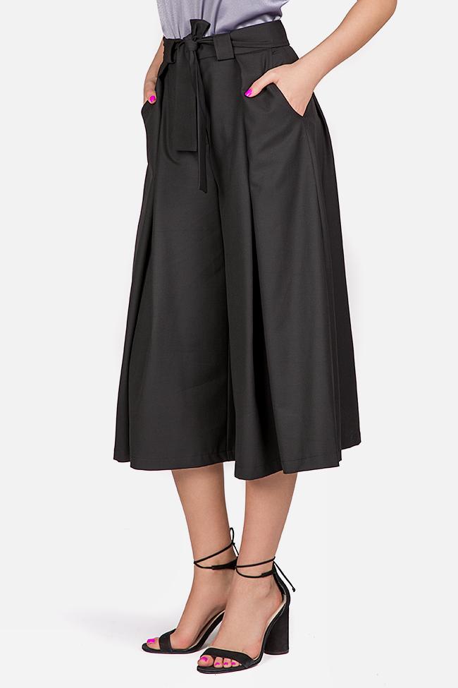 Fusta pantalon din amestec de bumbac cu cordon in talie Bluzat imagine 0