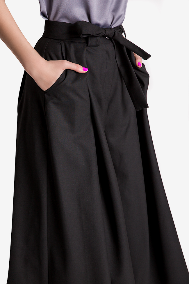 Belted cotton culottes Bluzat image 3
