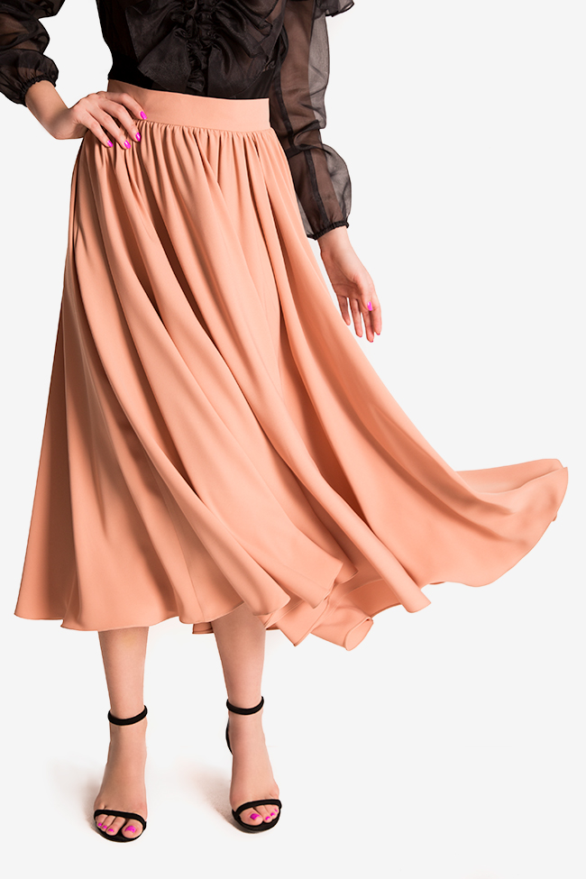 Cotton-blend midi skirt Bluzat Cocktail image 3
