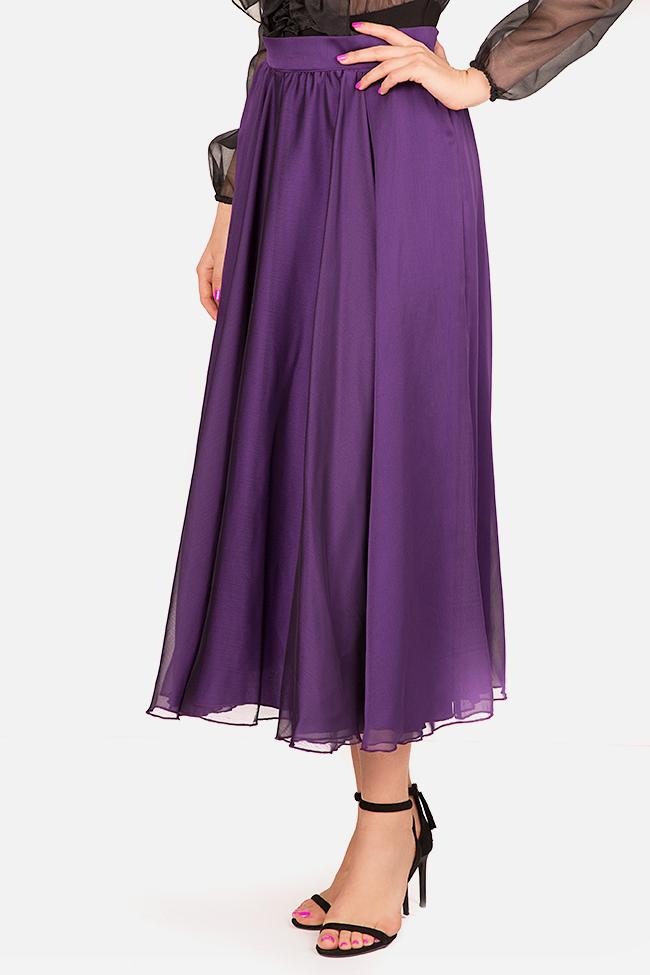 Silk-blend midi skirt Bluzat Cocktail image 0