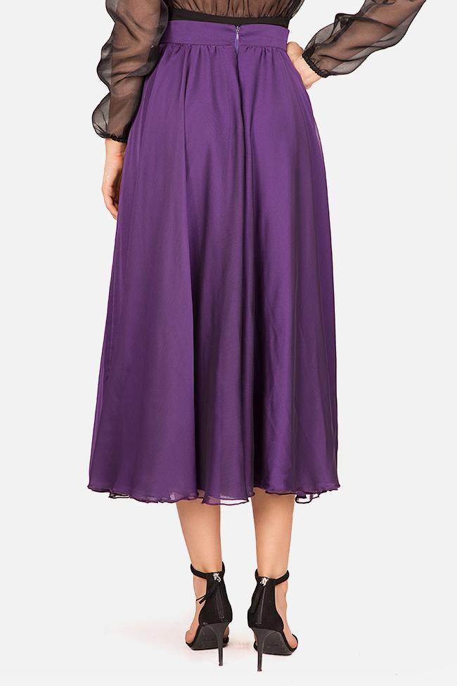 Silk-blend midi skirt Bluzat Cocktail image 2