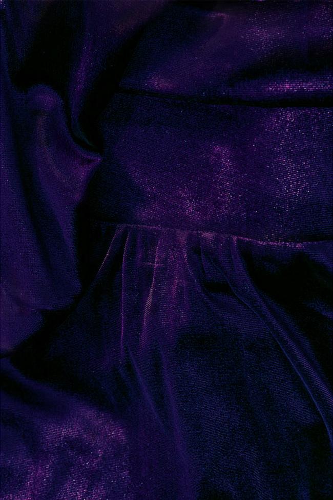 Adela one-shoulder stretch-velvet dress Love Love  image 4