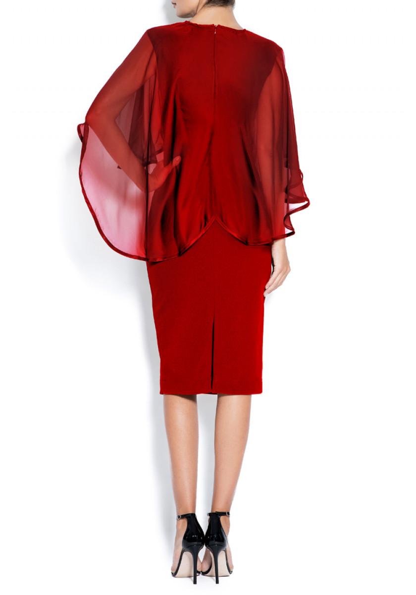 Robe en crêpe et voile de soie Ana Love Love  image 2