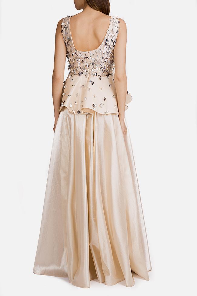 Embellished silk taffeta peplum gown Alda Ciceu image 2