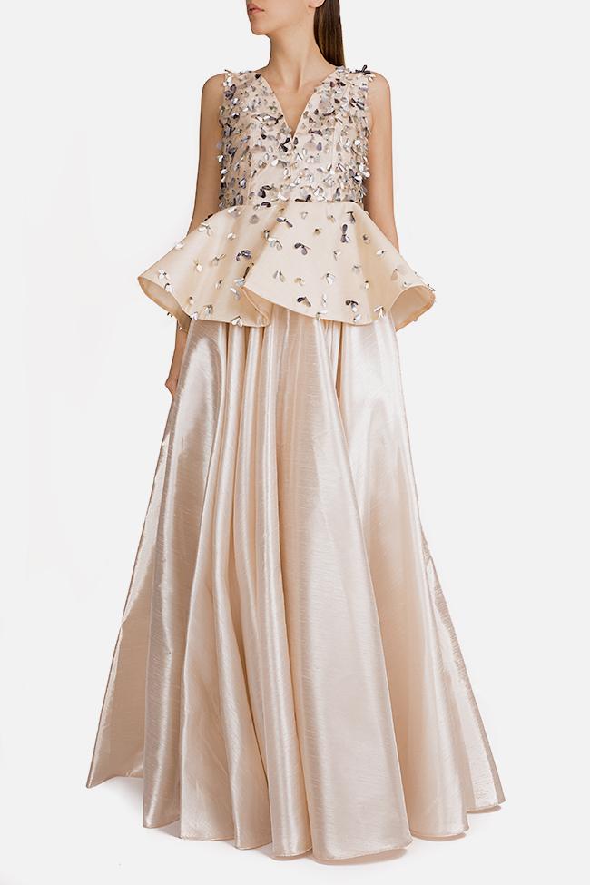 Embellished silk taffeta peplum gown Alda Ciceu image 0