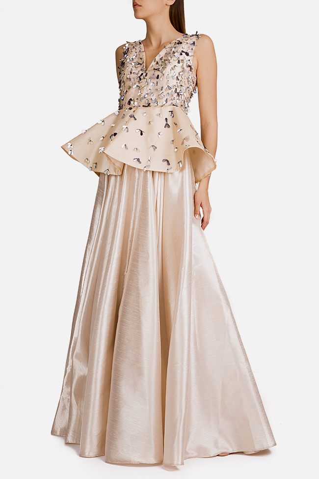 Embellished silk taffeta peplum gown Alda Ciceu image 1