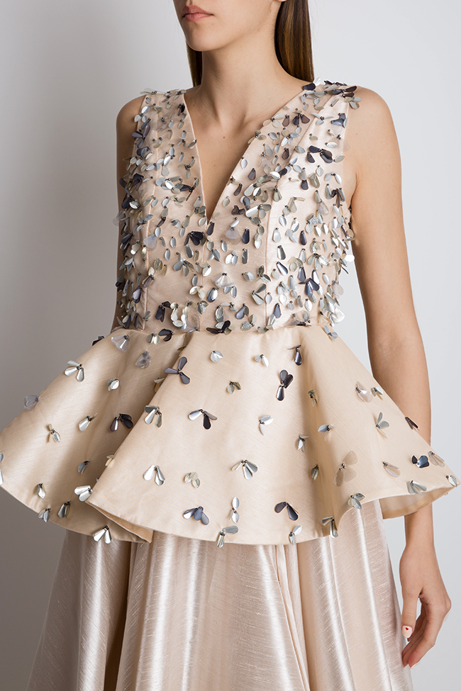 Embellished silk taffeta peplum gown Alda Ciceu image 3