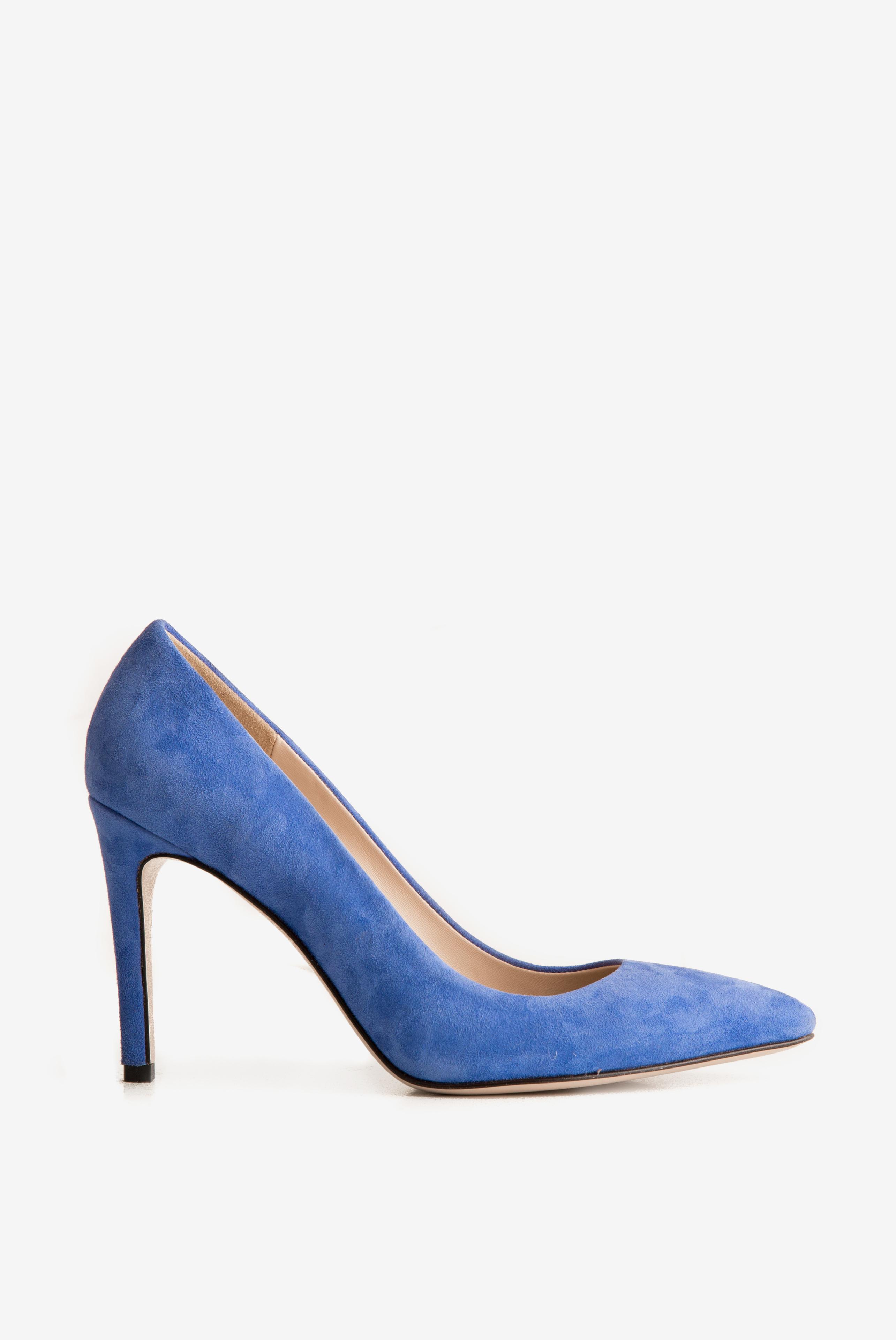 Pantofi din piele intoarsa Alice105 Ginissima imagine 0