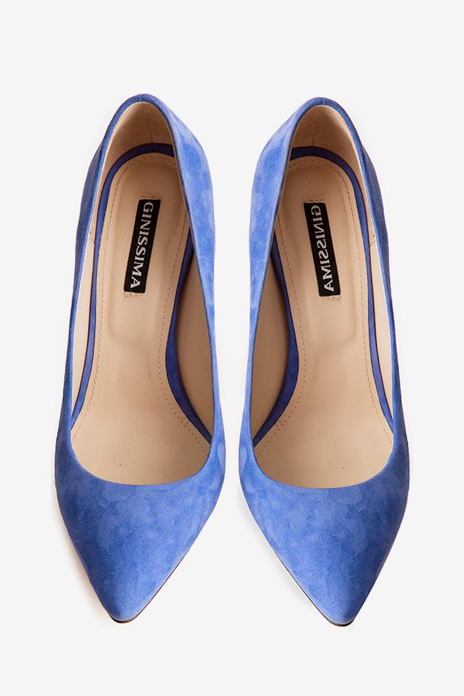Pantofi din piele intoarsa Alice105 Ginissima imagine 2
