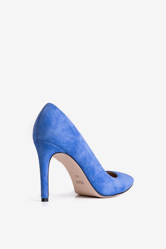 Pantofi din piele intoarsa Alice105 Ginissima imagine 1