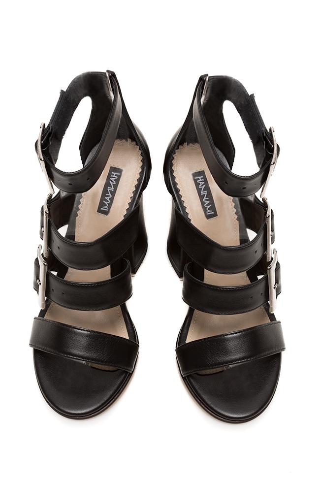 Black Allure leather sandals Hannami image 2