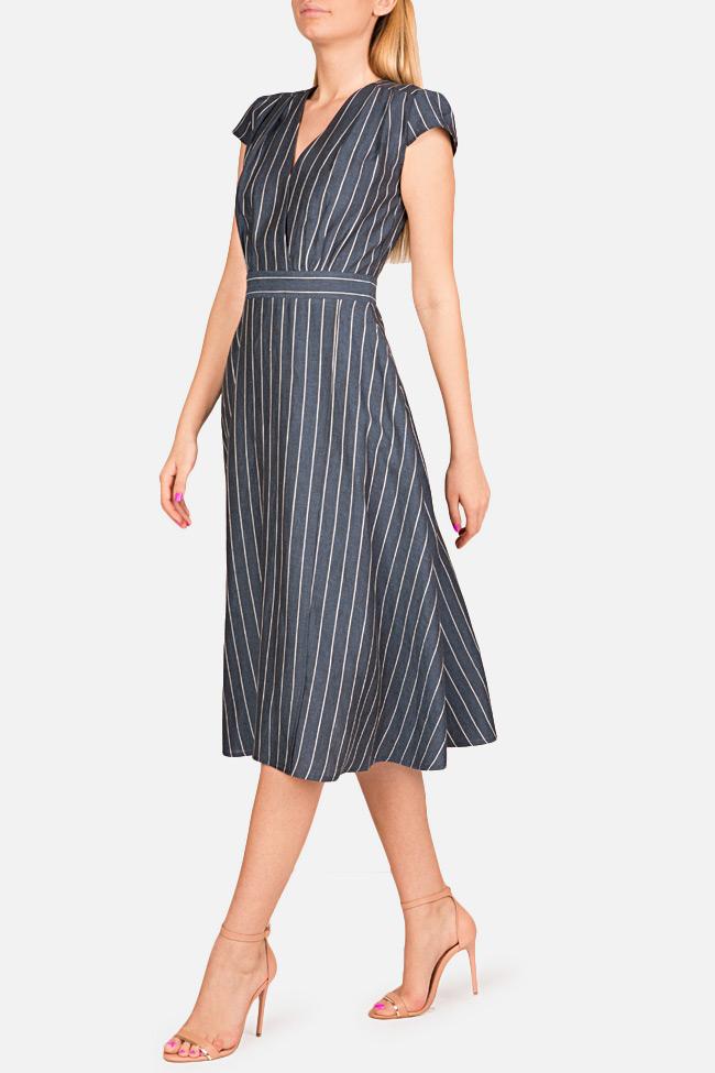 Striped linen midi dress Bluzat image 1