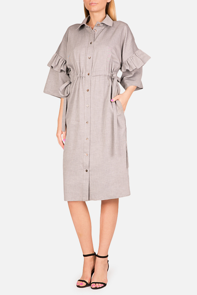 Ruffled shirt dress Bluzat image 0