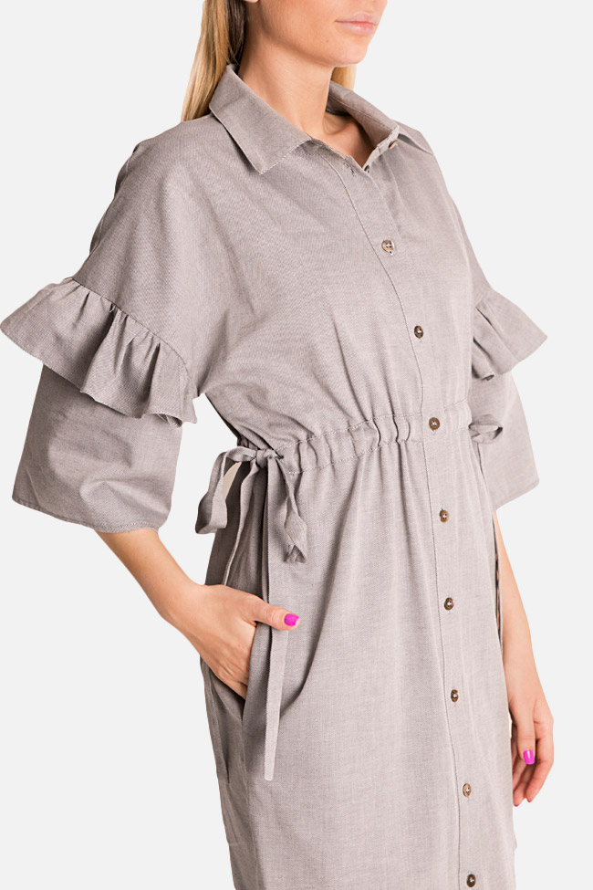 Ruffled shirt dress Bluzat image 3