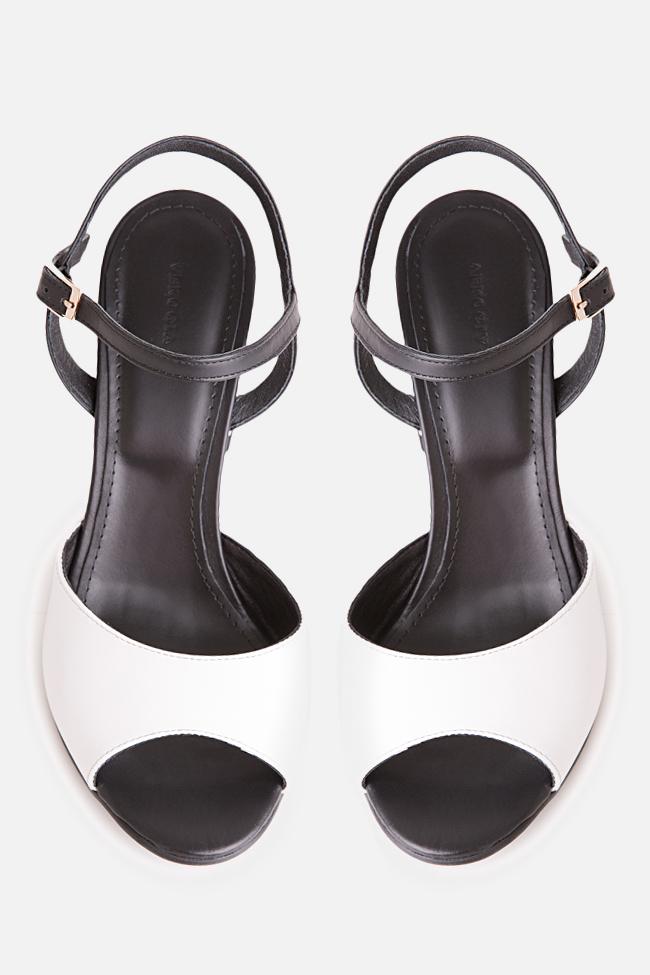 Sandale bicolore din piele Amelie Verogia imagine 2