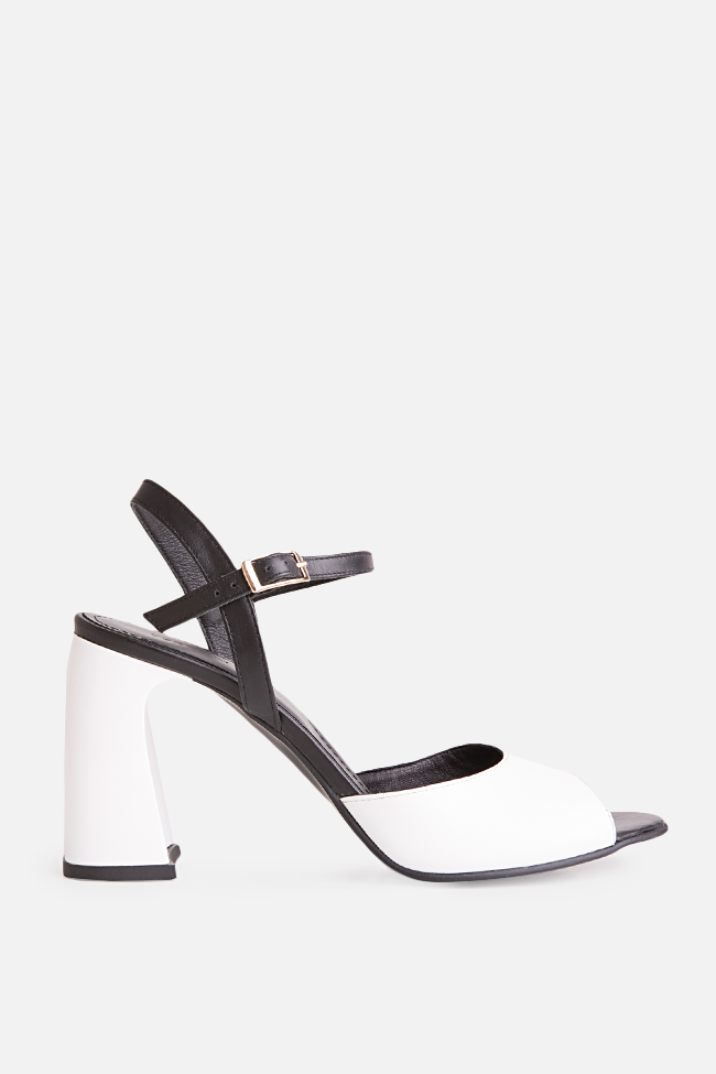 Amelie two-tone leather sandals Verogia image 0