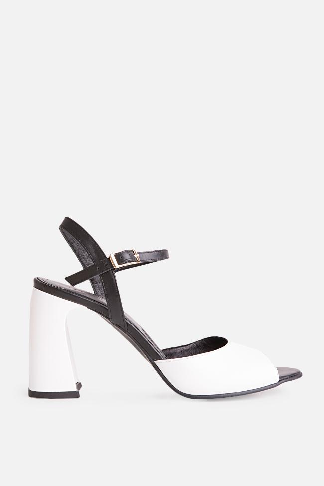 Sandale bicolore din piele Amelie Verogia imagine 0