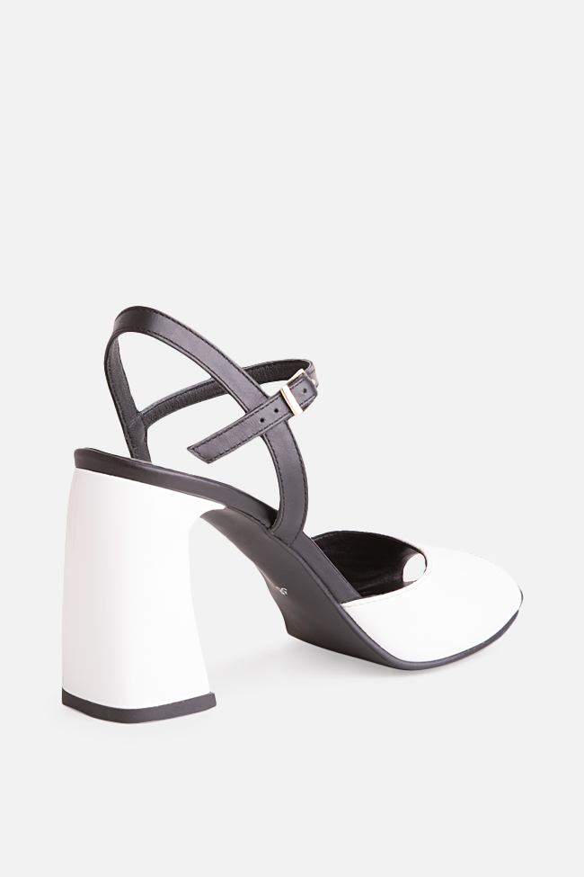 Amelie two-tone leather sandals Verogia image 1