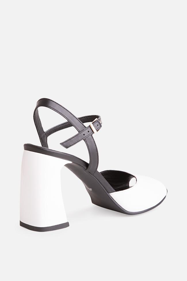 Sandale bicolore din piele Amelie Verogia imagine 1