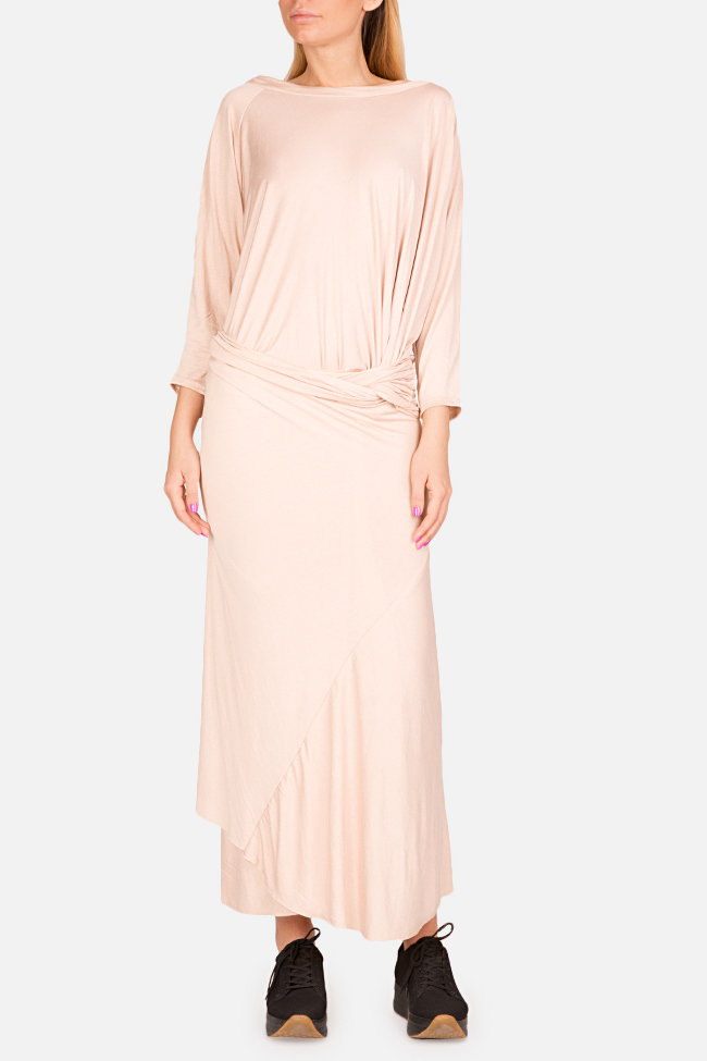 Clarion twist-front cotton-blend jersey maxi dress Studio Cabal image 0