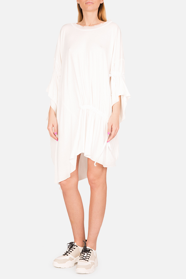 Frizzy asymmetric cotton-blend jersey mini dress Studio Cabal image 1