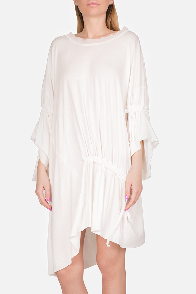 Frizzy asymmetric cotton-blend jersey mini dress Studio Cabal image 0
