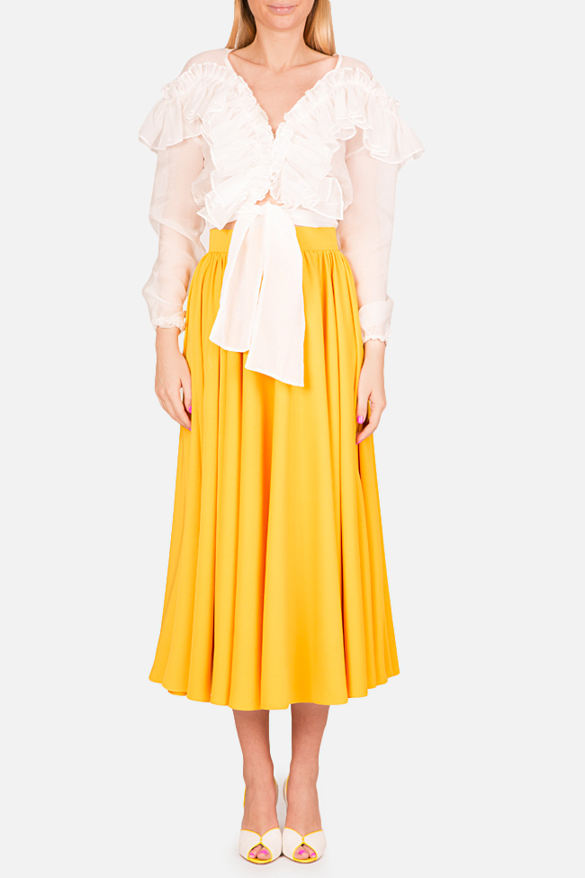 Cotton-blend midi skirt Bluzat Cocktail image 1