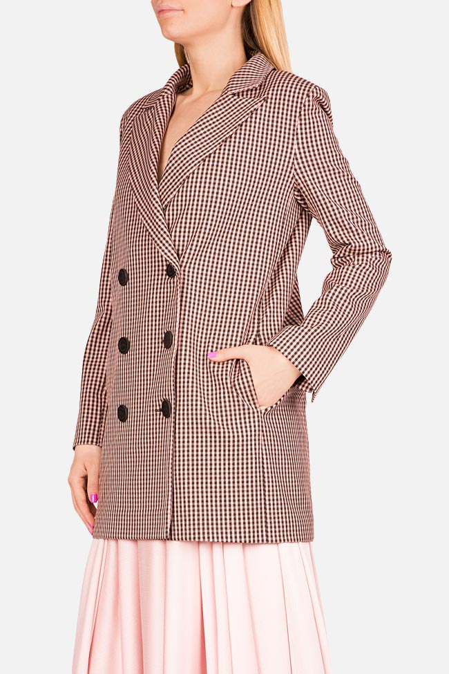 Checked double-breasted wool-blend blazer Bluzat image 1